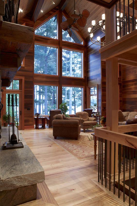 #sofa #wohnzimmer #holz #einrichtung #treppe #fens…