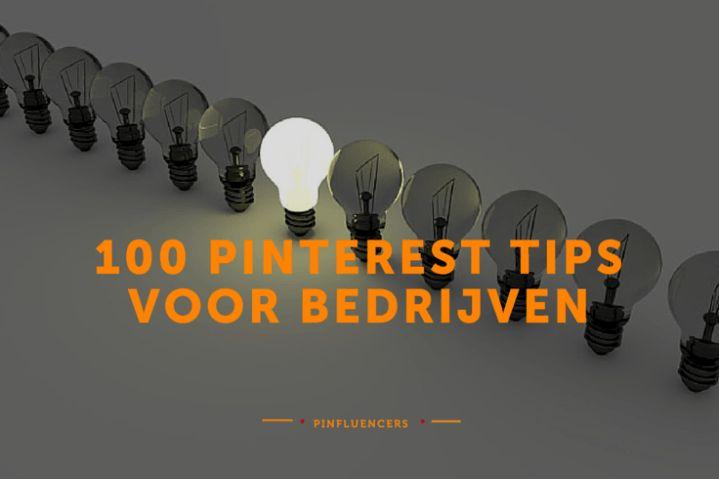 [HowTo] 100 handige, zakelijke Pinterest-tips :http://www.nieuws.social/strategie_nieuws/howto-100-pinterest-tips-voor-bedrijven/