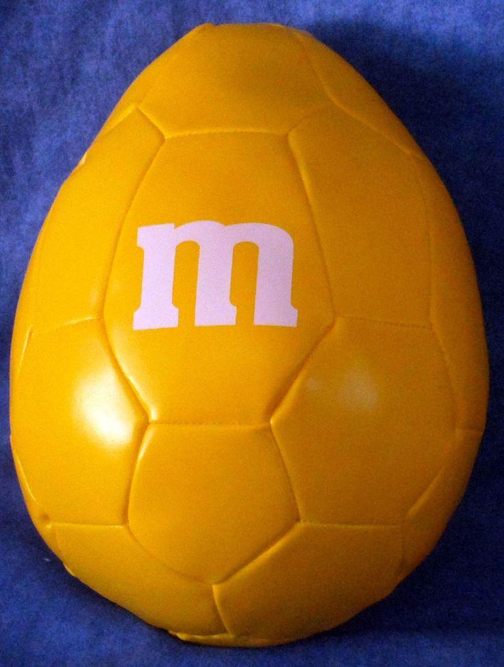 M & M Yellow Peanut Shaped Promo Soft Soccer Ball E9