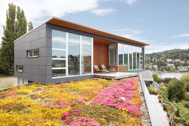 J'aime l'idée du renfoncement qui fait place à une plus grande terrasse