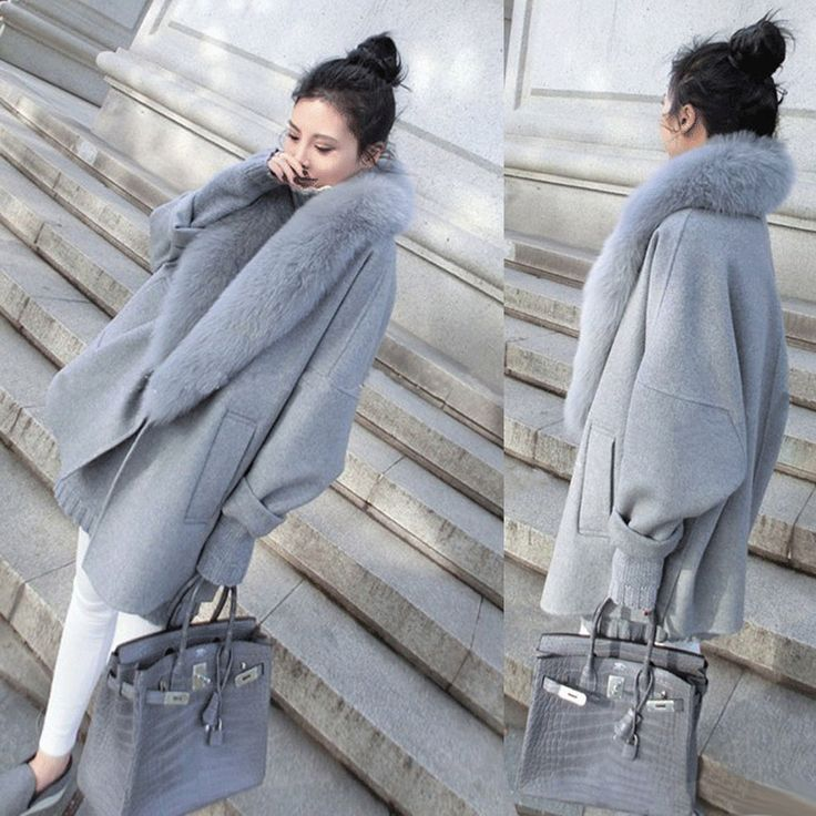 Details about Women Faux Fur Parka Tops Loose Overcoat Winter Thick Coat Long Jacket Plus Size