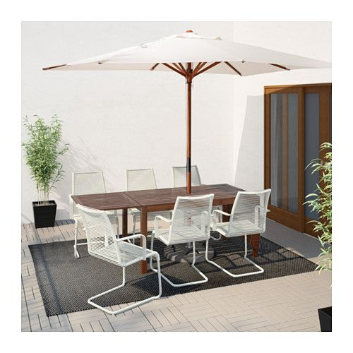 ÄPPLARÖ / VÄSMAN Table and 6 armchairs  - IKEA