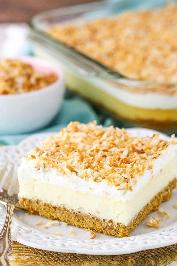 Cheesecake facile à la noix de coco