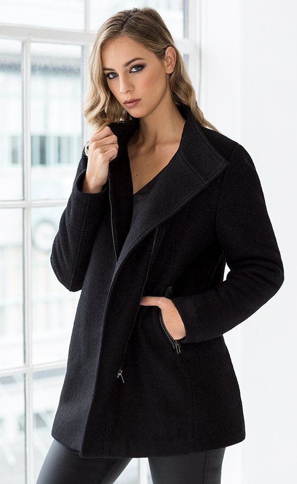 The Premium Faux Fur Lined coat is a must have for a stylish winter. Featuring faux fur vest lining and fabricated with Premium Wool Jacketing, this style guarantees to keep you warm as the temperature drops. Team this coat with tailored pants, heels and a sophisticated knit for a stylish workwear ensemble.