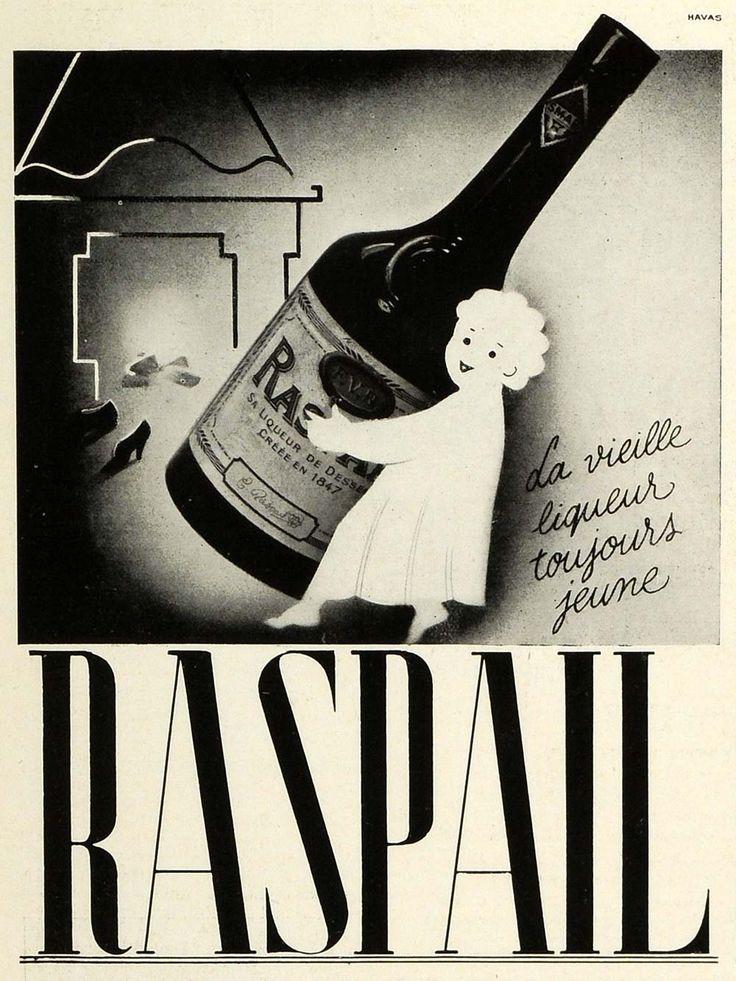 1937 Ad Raspail French Liqueur France Health Alcohol Drink ...