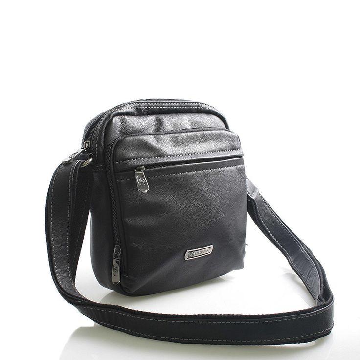 #Bellugio #Apollo Černá stylová taštička na doklady přes rameno Bellugio. Hlavní kapsa je na zip, uvnitř kapsa na mobil a kapsa na zip. Na přední straně jsou další prostorné kapsičky na zip. Zezadu je kapsička bez zipu. Taška pojme všechny nezbytné doklady, klíče telefony. Je vyrobena z kvalitní koženky. Novinka 2016.