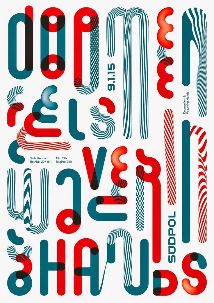 Love the color palette and style of this letter inspired graphic design | Doomenfels, Wavering Hands - Grafik: Felix Pfäffli _