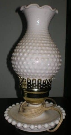 Mom had 2 of these hobnail lamps..identical. My kids would totally remember these.