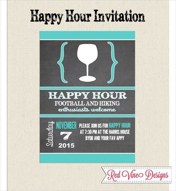 Happy Hour Invitation Templates 14 Happy Hour Invitation Designs Templates Psd Ai Invitation Wording Party Invite Template Invitation Template
