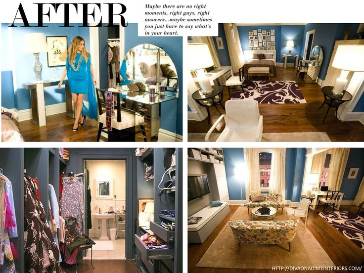 carrie bradshaw 39 s apt after remodelling interiors. Black Bedroom Furniture Sets. Home Design Ideas