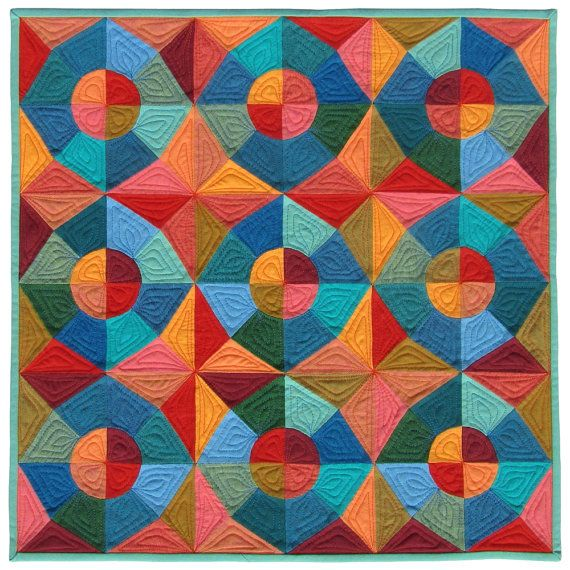Pdf Quilt Pattern - Circles and Stars English Paper Pieced Quilt Pattern - EPP…