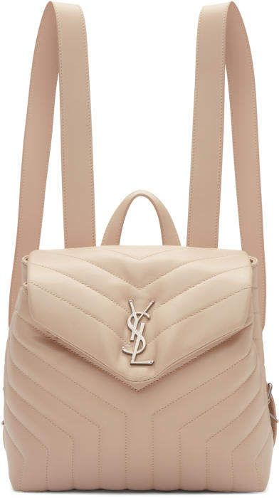 95354b33cfa Shop for Saint Laurent Pink Small Monogram Loulou Backpack at ShopStyle.com