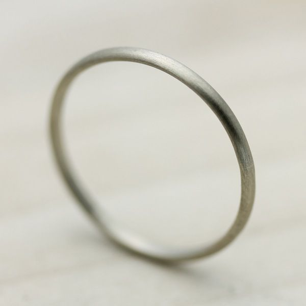 Weddings Around the World: Denmark, Jeg elsker dig! – Simple white gold band by @memoirejewelry, $125