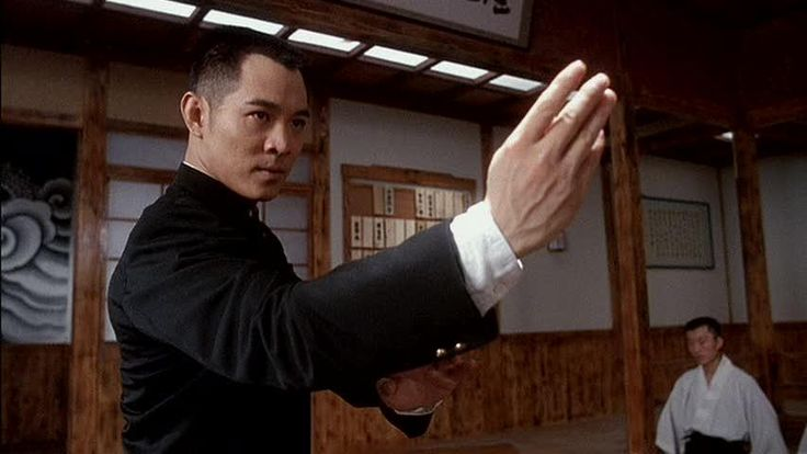 "possibly the best remake ever. Jet Li in ""Fist of Legend"", paying homage to Bruce Lee"
