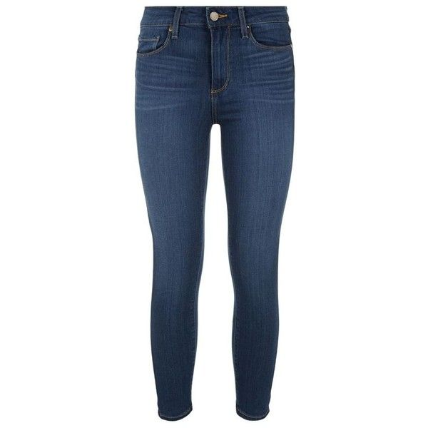 Paige Hoxton Transcend High-Rise Skinny Jean ($320) ❤ liked on Polyvore featuring jeans, bottoms, pants, denim jeans, super skinny jeans, blue jeans, denim skinny jeans and skinny fit jeans