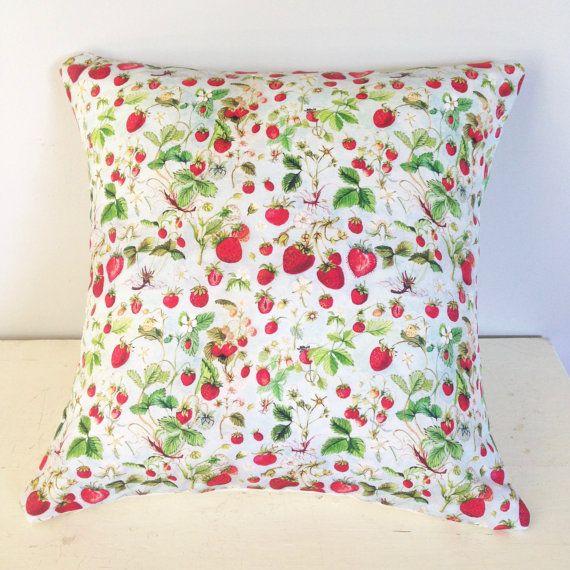 Throw Pillow Cover Botanical Watercolour by strawberrysnail