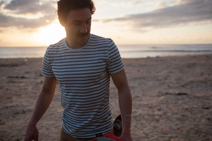 'Finisterre' Cold Water Surf Company's Striped Merino