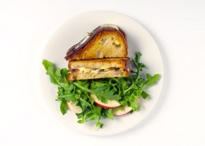 Gruyere Grilled Cheese with Apple Salad - RecipeChart.com   Sandwiches ...