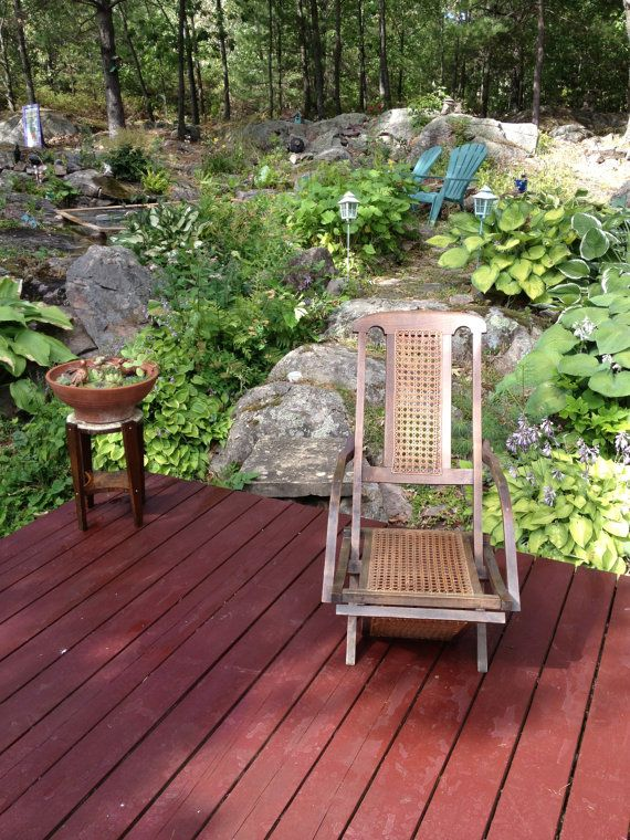 Antique Wooden Deck Chair for Cruise Ship by fabfindschimesdesign, $595.00
