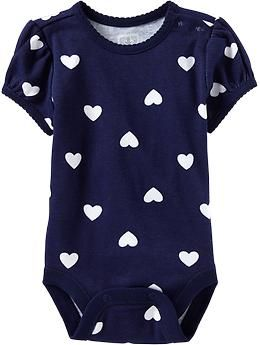 Miss Emily would look so cute in this onesie! @Stephanie Shubert Scalloped-Trim Printed Bodysuits for Baby Old Navy $6.97