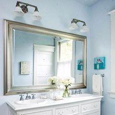 Wastafel dressoir met rechthoek spiegel