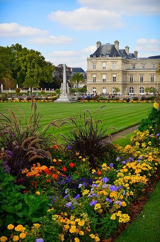 Luxembourg Palace and gardens , Paris