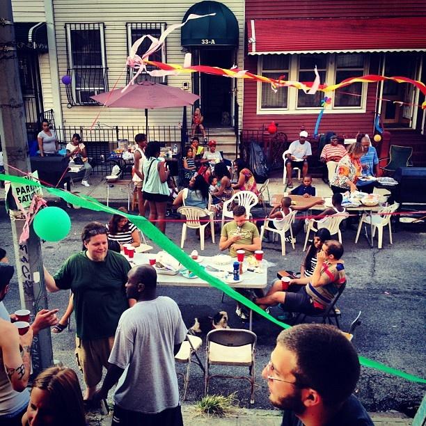 Bushwick. Block party. Photo by Michael Fauver.