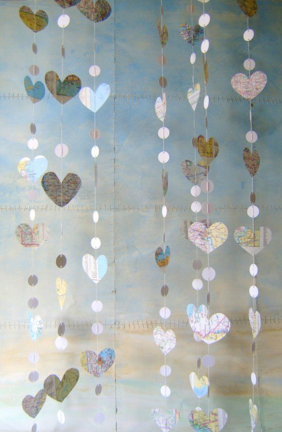 Map+to+My+Heart++Paper+Garland+by+PaperAcorn+on+Etsy