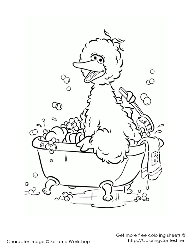 97 best sesame street colouring pages images on Pinterest