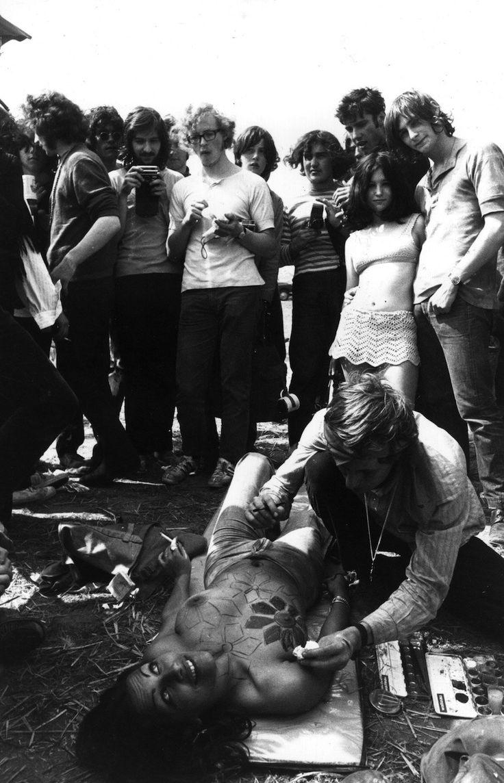 People Would Get Their Bodies Painted  Woodstock -7431