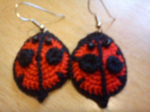 Ladybug earrings:)