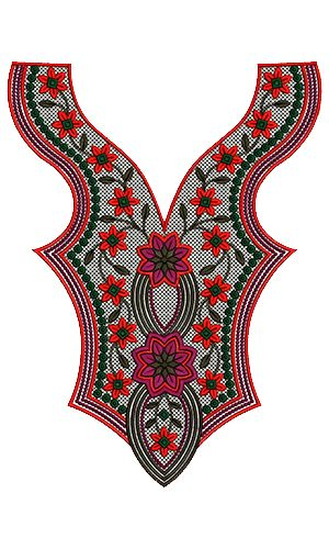 9544 Neck Embroidery Design