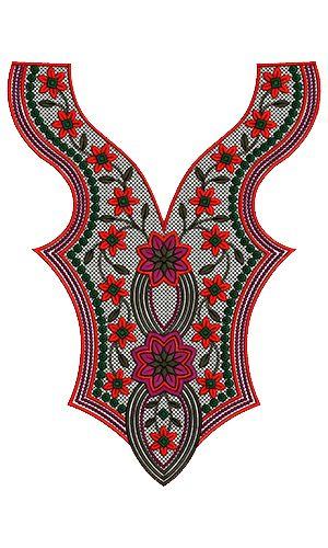 9544 Neck Embroidery Design