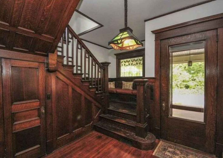 Beautiful entryway in Historic 1910 home in Rock Island, IL.