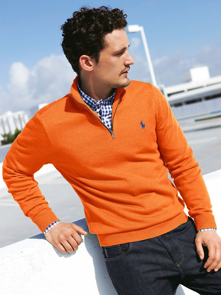 Ralph Lauren | A Life Well Suited | Men's Fashion | Menswear | Men's Apparel | Casual Outfit for Spring/Summer | Orange and Blue | Moda Masculina | Shop at designerclothingfans.com