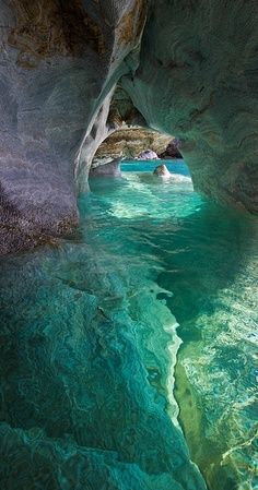This looks like the inside of my head... Marble Cathedral, Patagonia, Chile