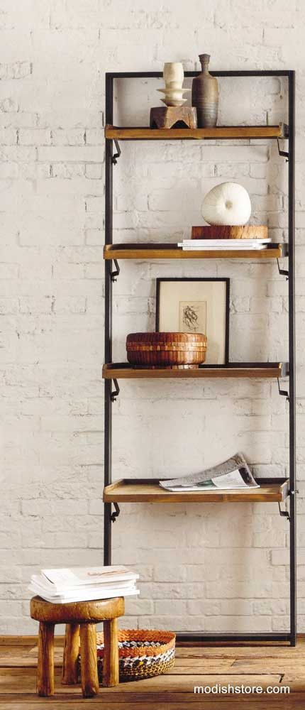 Roost Recycled Teak Leaning Shelf – Modish Store