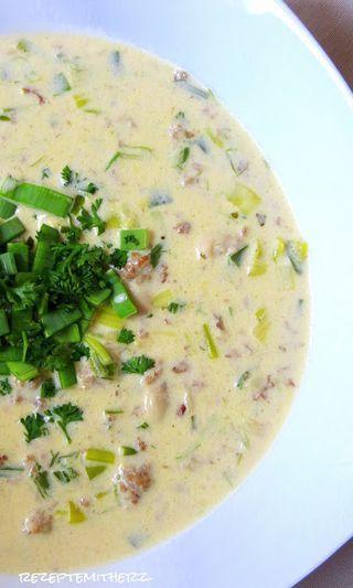 Käse-Lauch-Suppe mit Hackfleisch | Thermomix - Rezepte mit Herz | Bloglovin