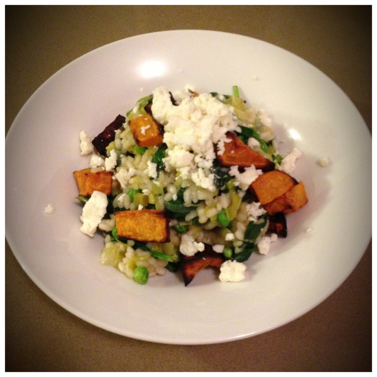Pumpkin and goats cheese risotto. #12wbt Michelle Bridges. Healthy eating.