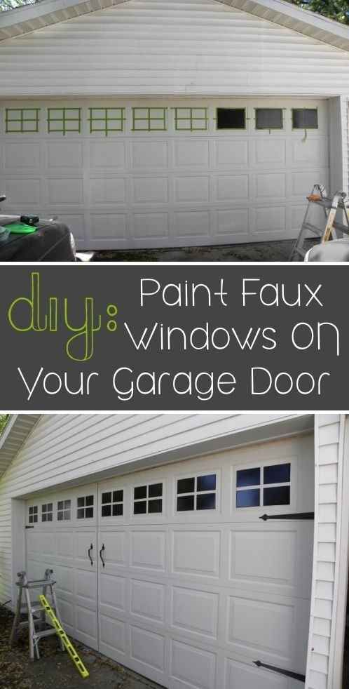 Paint faux windows on your garage door. | 31 Easy DIY Upgrades That Will Make Your Home Look More Expensive