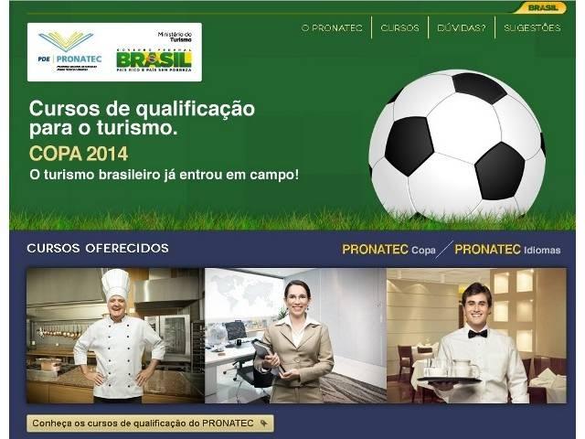 Pronatec Copa reabre inscrições em 117 municípios brasileiros. Interessados podem se inscrever para cursos profissionalizantes e de idiomas até o dia 16. Saiba mais: