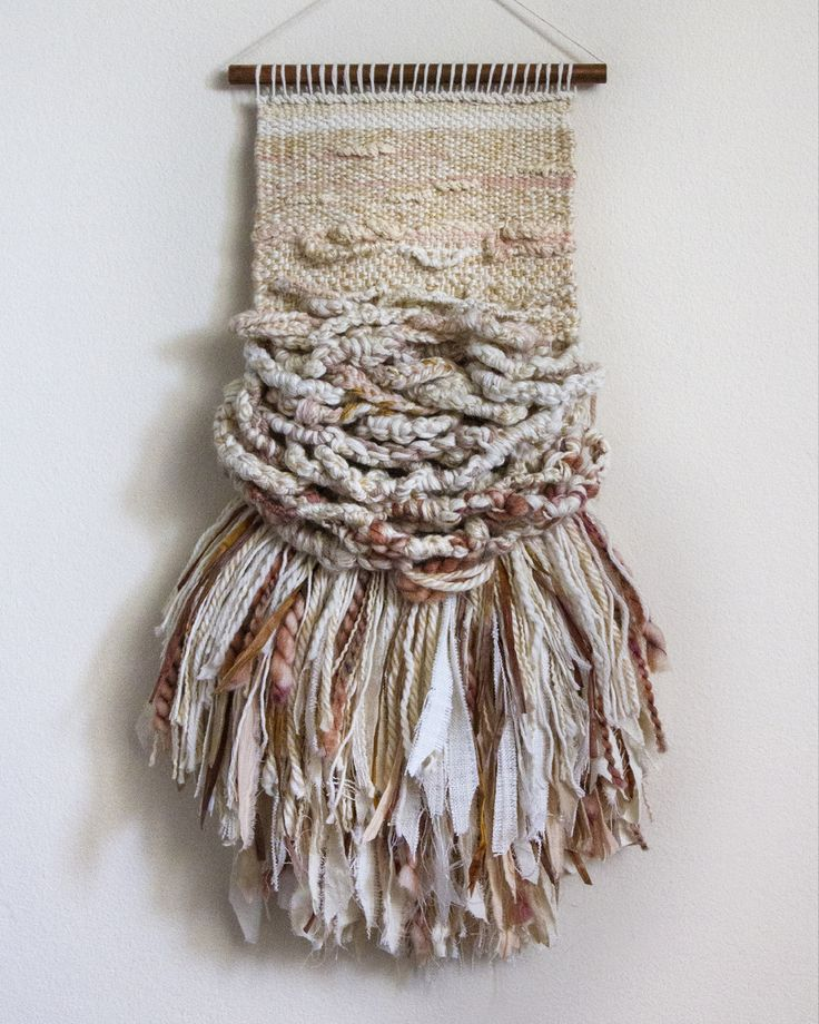 CROSSING THREADS, handwoven, weaving, tapestry, woven wall hanging, textile art, fibre art.