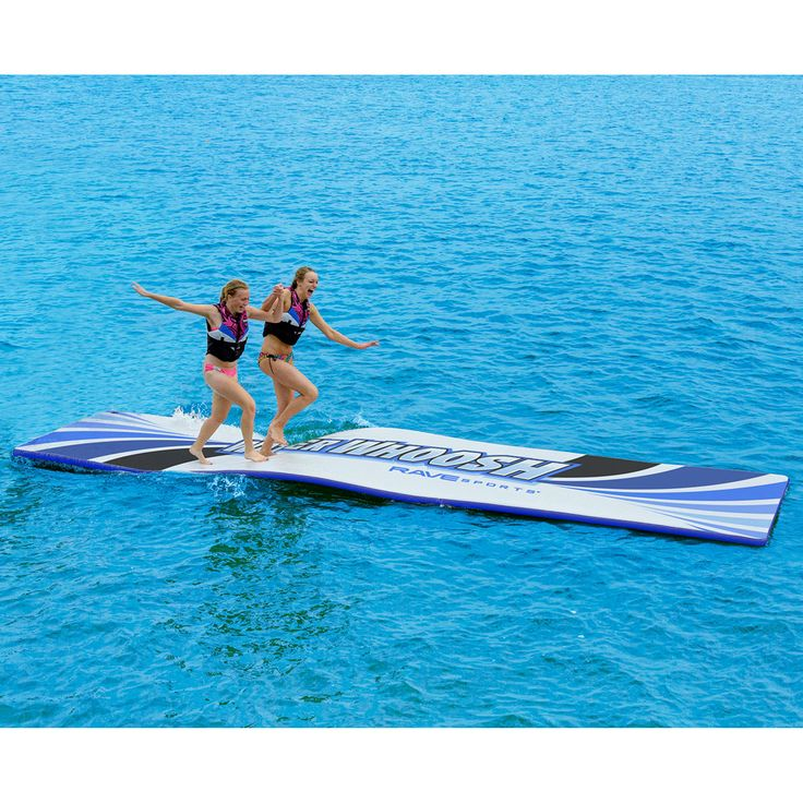 The Water Whoosh by Rave Sports is constructed from commercial grade, durable drop-stitch material, this water mat provides fun for all ages whether you want to relax, race, slide, or use it as a starting dock platform for skiing or wakeboarding.