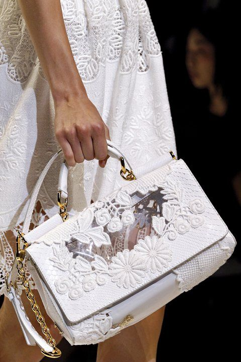 Gorgeous handbags Dolce & Gabbana. These are from the Spring Summer 2011 collection. So feminine and so lovely.