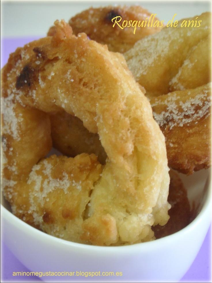 Receta de rosquillas de anís, un dulce tradicional de la cocina española, en el blog A mí no me gusta cocinar