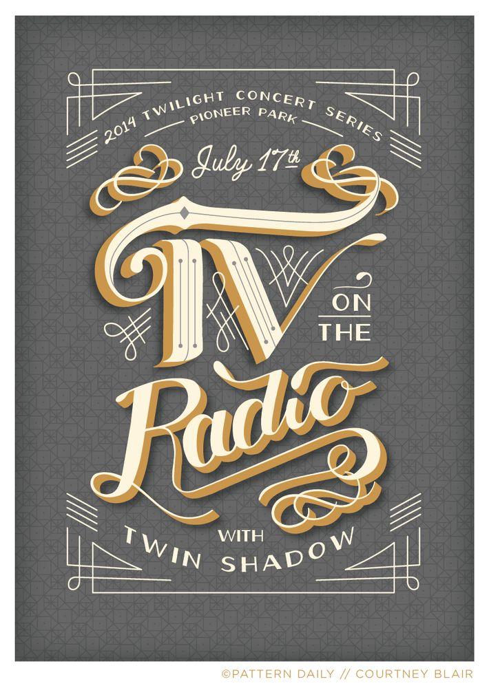 TV on the Radio // Gig Poster // Courtney Blair