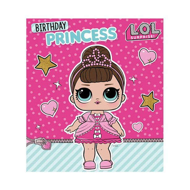 L O L Surprise Birthday Princess Card Daughter Birthday Cards