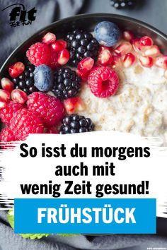 Manchmal muss es am Morgen schnell sein. Wie mache ich ein gesundes Frühstück?  – Frühstück