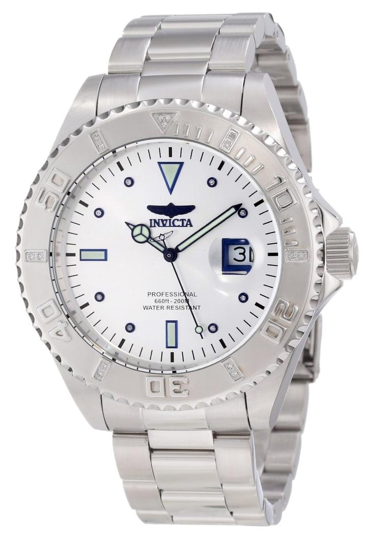 Invicta Men's 12816 Pro Diver Silver Dial Watch