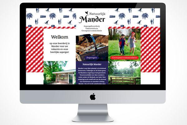 Ontwerp volledige uitstraling Natuurlijk Mander, Aspergeboerderij en vakantiewoning.